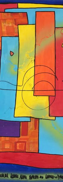 Essais, 2013, technique mixte sur toile 90x90 cm
