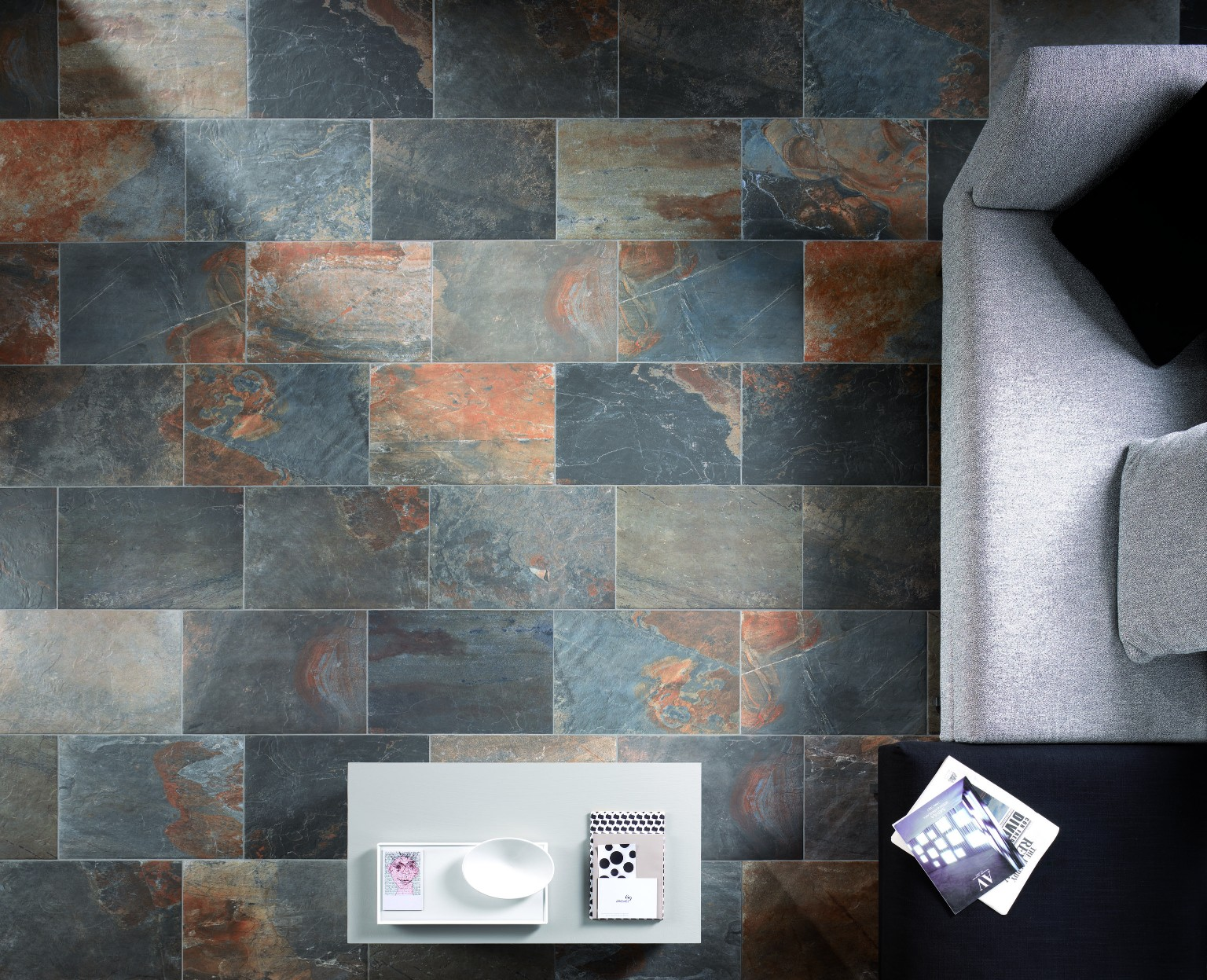 Amb Living Natural Slate Multicolor Zenitale