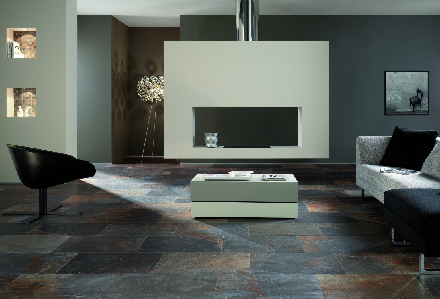 Amb Living Natural Slate Multicolor