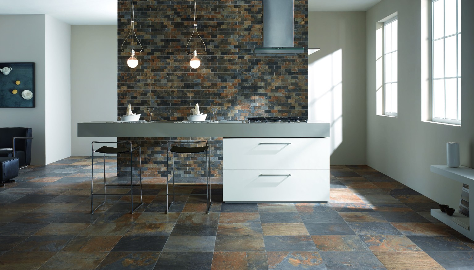 Amb Cucina Natural Slate Multicolor