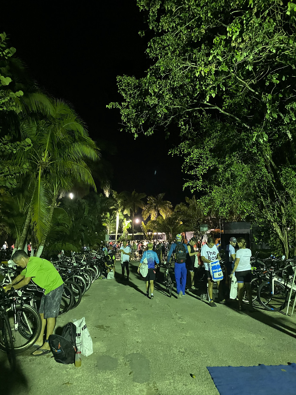 Ironman transition Cozumel