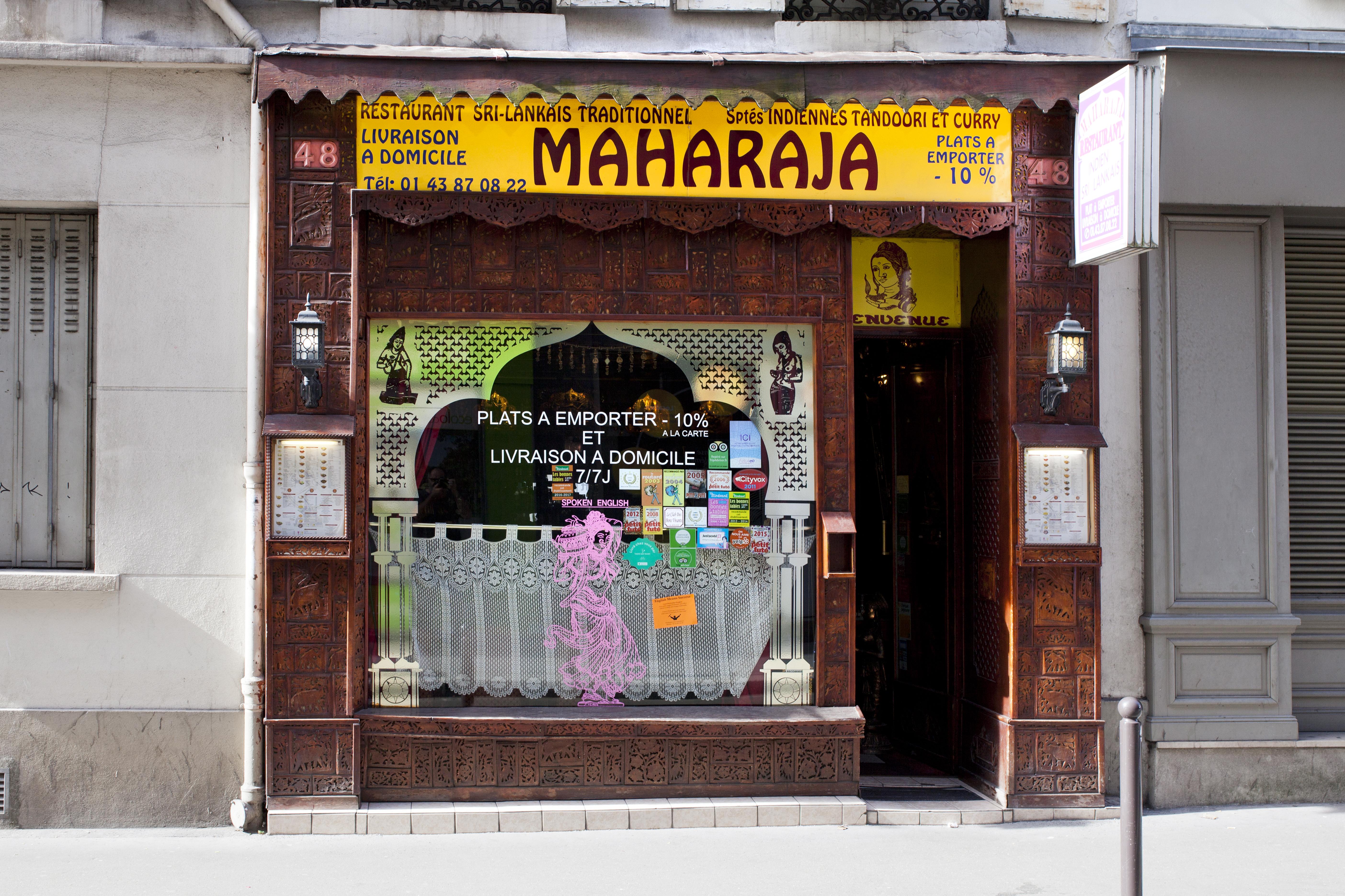 Restaurant Indien Maharaja Paris 17