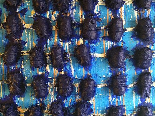 """Blue Kordas"" - Mixed Media"