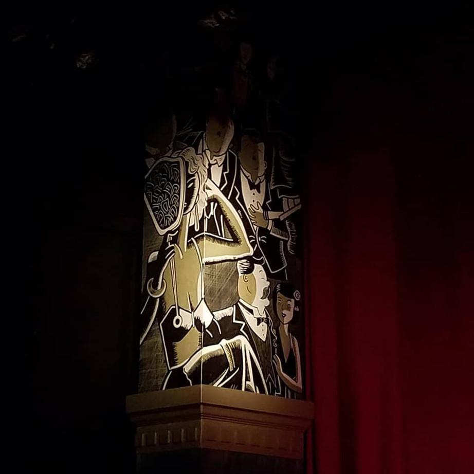 The Wild Party SR proscenium column