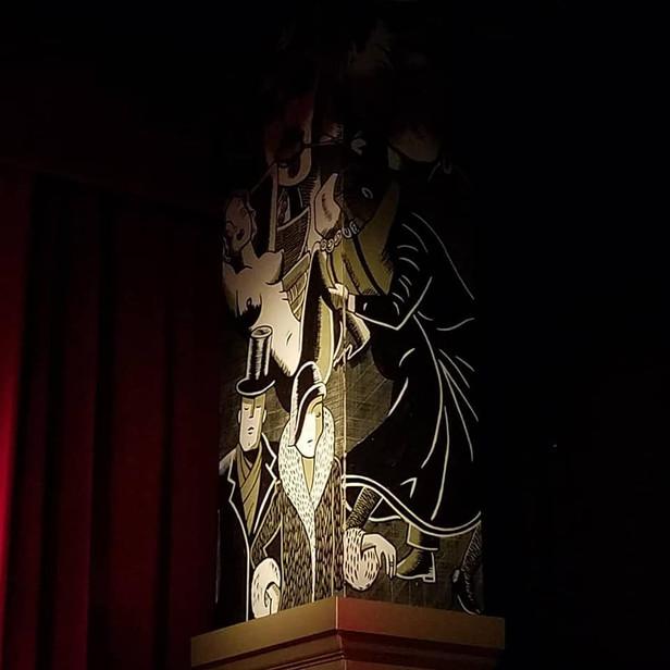 The Wild Party SL proscenium column