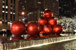 The Red Christmas Balls Sixth Avenue