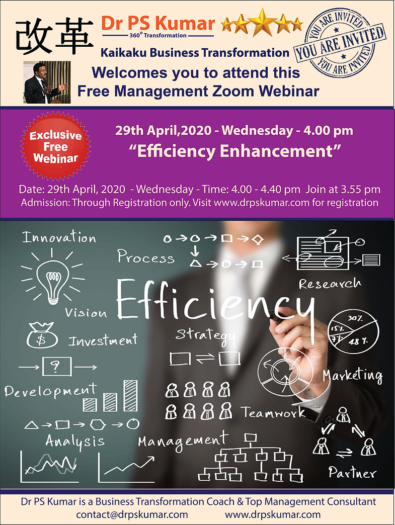 Dr PSK - Efficiency Enhancement Strategi