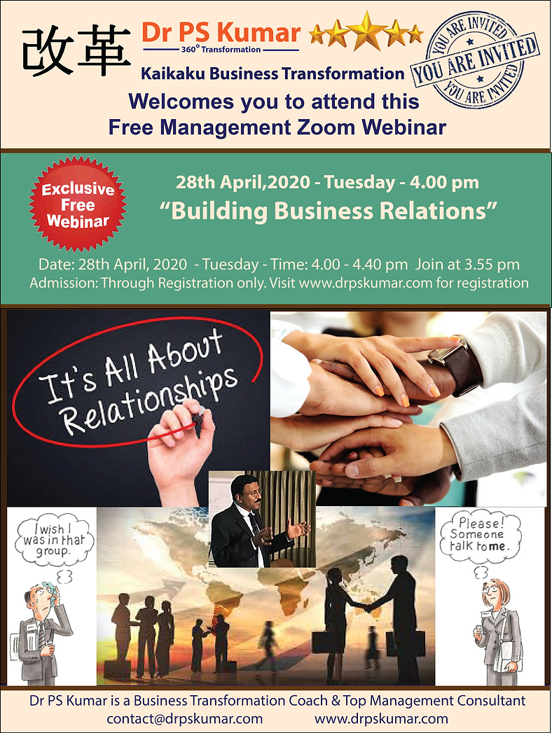 Dr PSK - Building Business Relationships