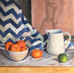 Pitcher and Bowl with Tangerines