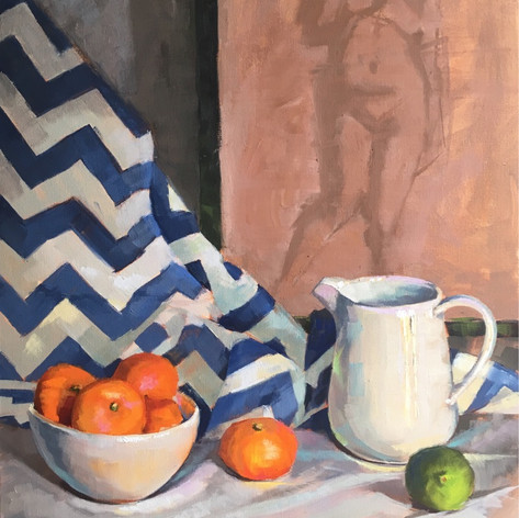 Pitcher, Bowl and Tangerines