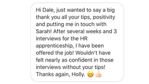 Holly Lands Her Great First HR Job