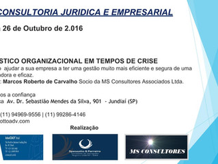 Palestra Diagnóstico Empresarial Jundiaí/SP 26/10