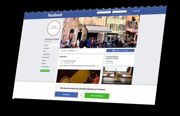 page facebook AD