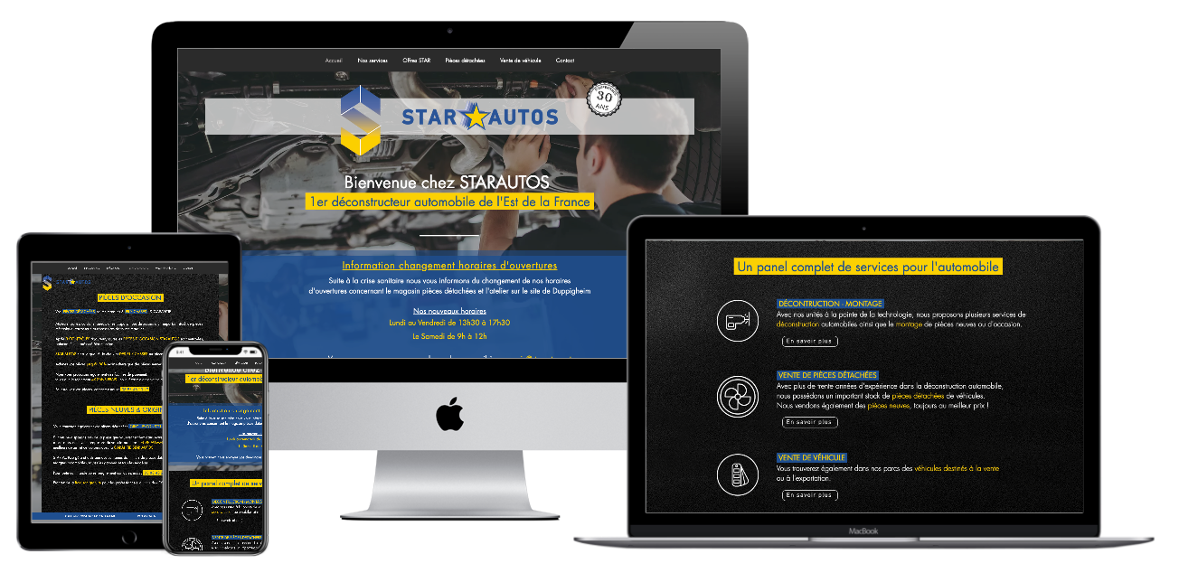 Site web Star Autos