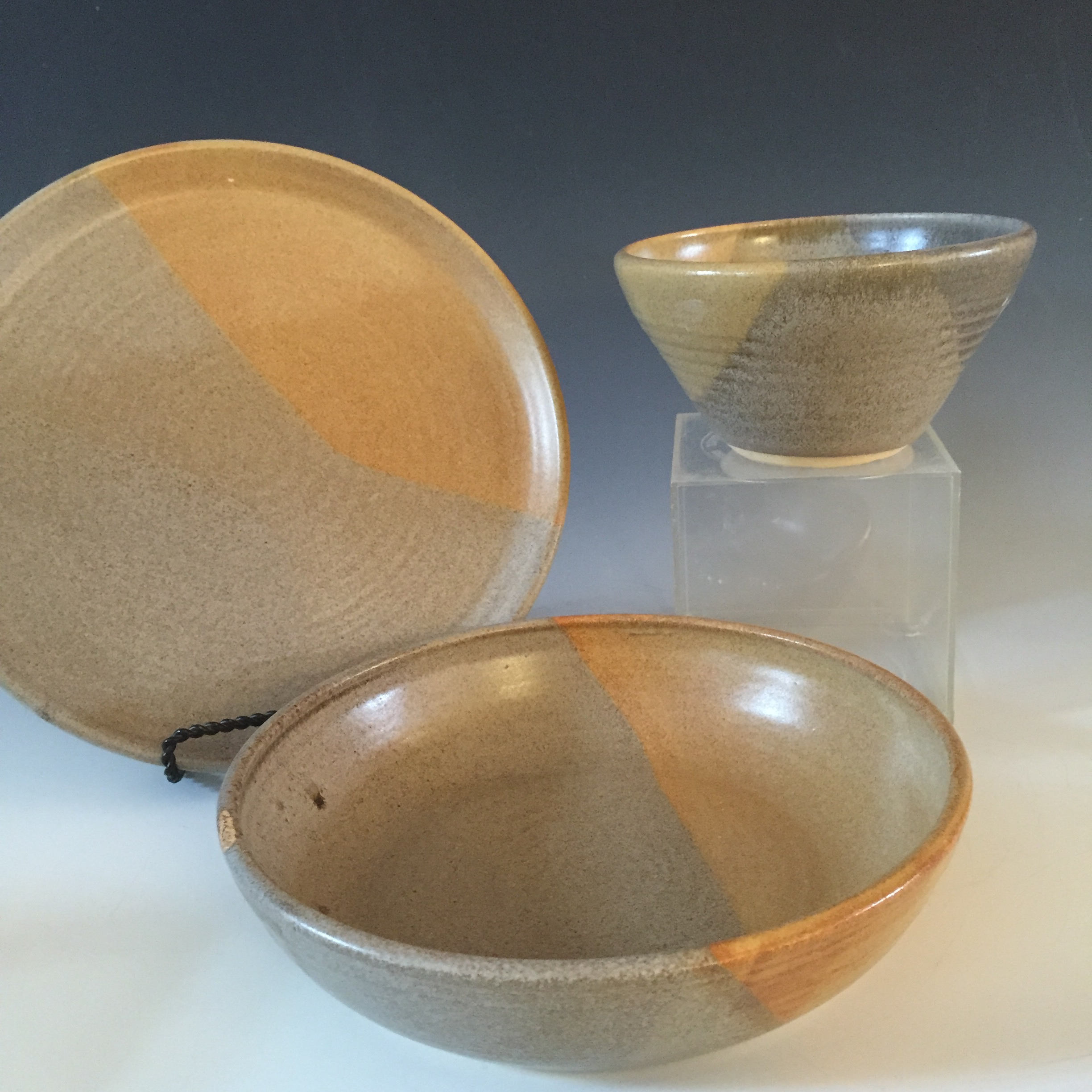 Plate with Pasta Bowl and Soup Bowl