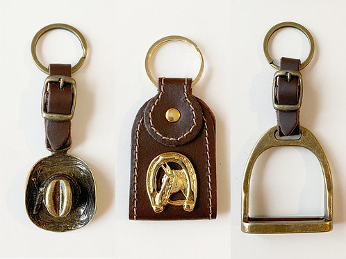 Gift - Leather key ring equestrian