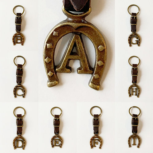 Gift - Leather letter key ring M-Z
