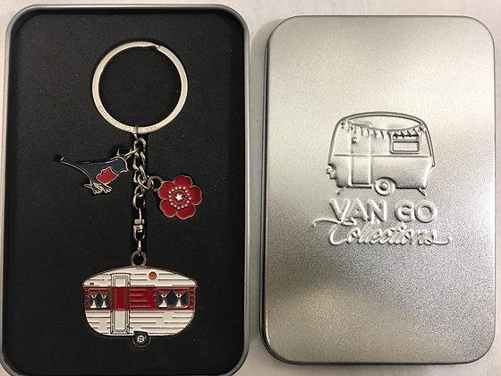 Van go key ring in tin
