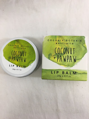 Coconut and paw paw lip balm