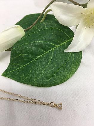 Dainty Zirconium gold neckace