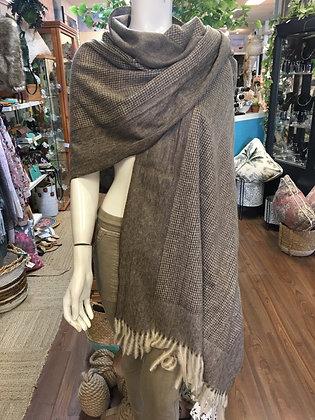 Chocolate brown scarf/shawl