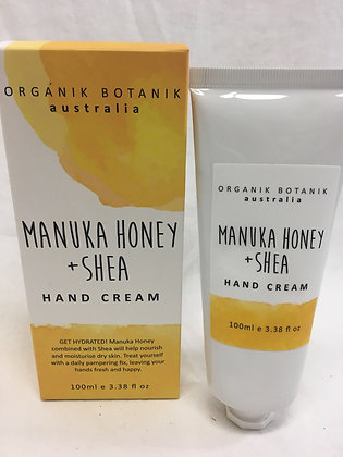 Organik botanik Manuka honey & shea handcream