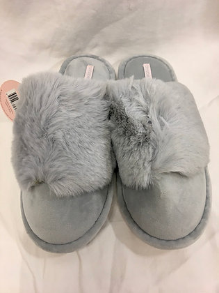 Cosy luxe slippers grey small/medium