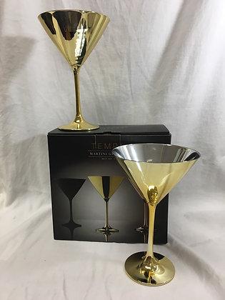 Gold martini glasses - set of two