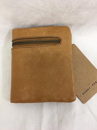 Leather wallet - camel