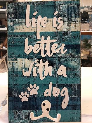 Aqua life is better with a dog hooks