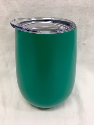 Doubled walled green wine tumbler