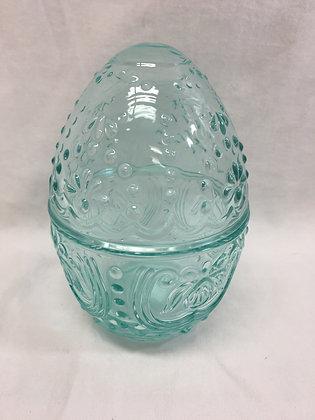 Glass eggs - blue