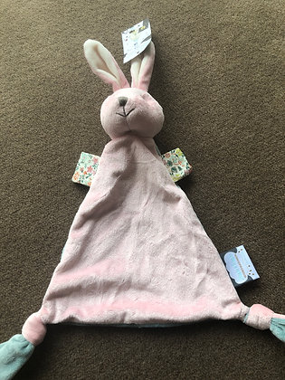 Pink/blue rabbit soother
