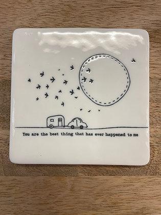Square ceramic coaster - best thing