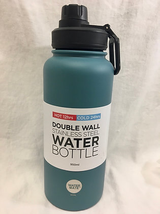 Double wall teal water bottle