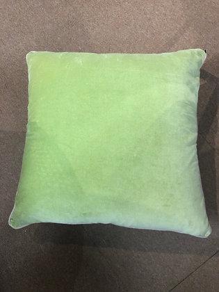 60cm lime velvet cushion