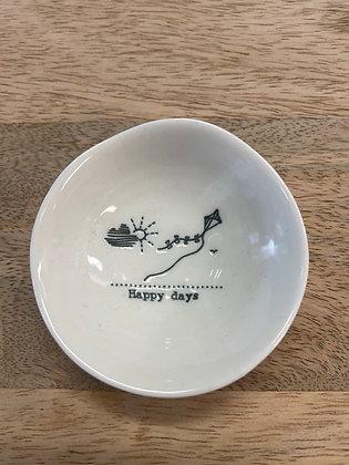 Wobbly ceramic small happy days bowl