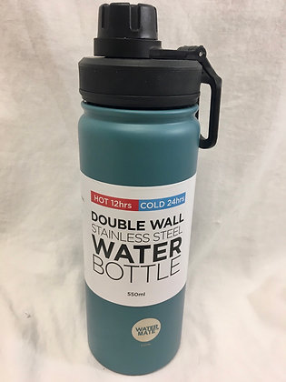 Doubled walled teal water bottle