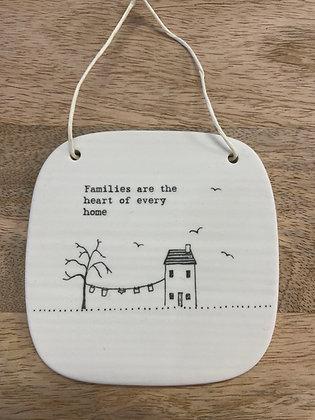 Ceramic hanging plaque - families