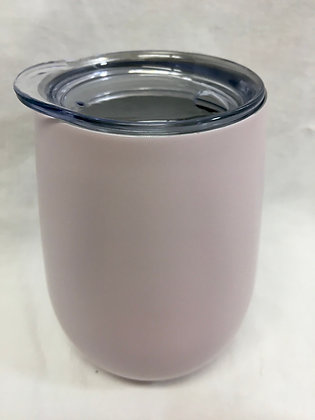 Doubled walled pale pink wine tumbler