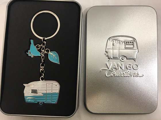 Van go key ring in tin box