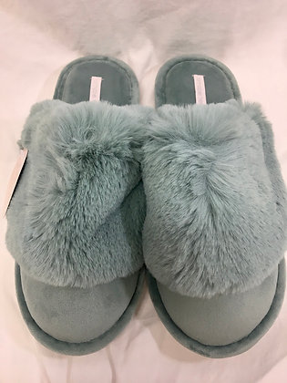 Cosy luxe slippers - Sage medium/large