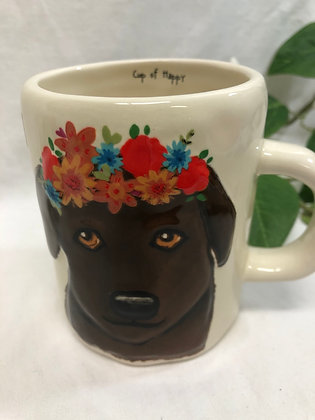 Brown dog cup Lo