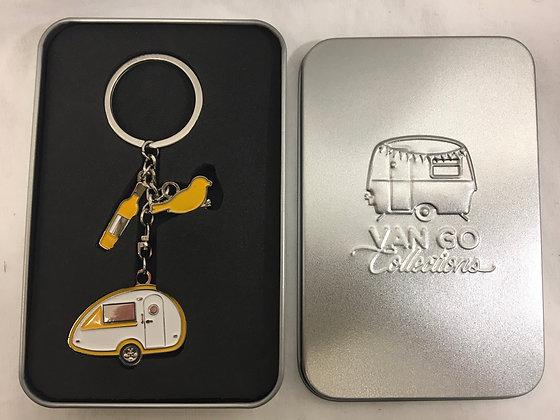 Van go key ring in tin box