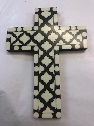 Dark green inlaid cross