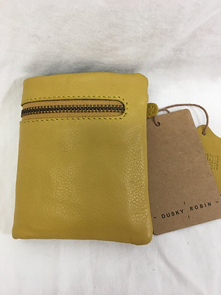 Leather purse - with zip