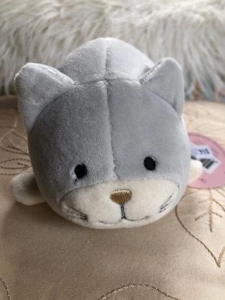 Grey cat rattle