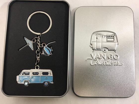 Van go combo key ring in tin box