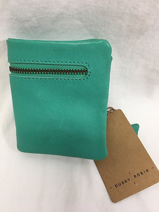 Leather wallet - jade