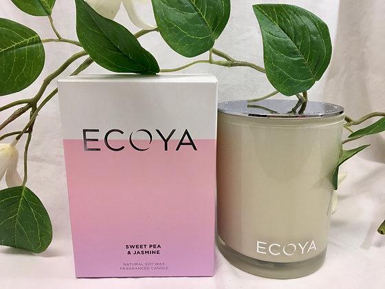 Ecoya Sweet Pea and Jasmine Candle - Madison Jar